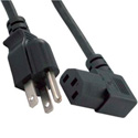 3-Prong AC to IEC Female Right Angle Power Cord - 10 Foot