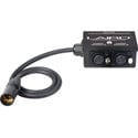 Laird RD1-BX6 12-Volt Twin Output 4-Pin XLR Power Splitter Box