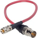 Laird Red One Camera 3G SDI DIN 1.0/2.3 to BNC Female Adapter Cable - 1 Foot-Red