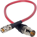 Laird Red One Camera 3G SDI DIN 1.0/2.3 to BNC-F Adapter Cable - 3 Foot - Red