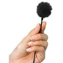 Remote Audio Micro-Cat Fuzzy Windscreen for Lav Mics. - Black
