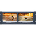 Wohler RM-4290W-2HD Dual 9-inch 4U HD/SD-SDI Color Video Monitors (Dual Input)