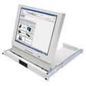Recortec RMM-607 Locking Rack Drawer & 17in LCD Monitor 1RU Black