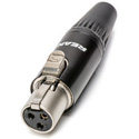 Neutrik RT3FC-B REAN TINY 3-Pole Female Black/Gold XLR Cable Connector