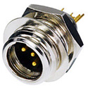 Neutrik RT4MP REAN TINY Chassis Connector. 4-Pole. Male. Black / Gold