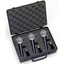 Samson SAMR21 Cardioid Dynamic Vocal/Recording Microphone 3 Pack