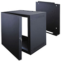 7 Space Deep Wall Rack with Door -Black