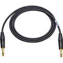 Canare Star-Quad Cable 1/4-Inch TS Male to 1/4-Inch TS Male 6 Foot - Black