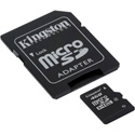 Kingston 4GB microSDHC Memory Card with SD Adapter