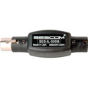 Sescom SES-IL-50DB XLR Male to XLR Female In Line Attenuator - 50db