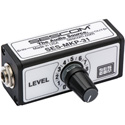 Sescom SES-MKP-31 Single Channel Inline Balanced Audio Level Control with 1/4 Inch Connectors