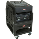 SKB 1SKB19-R1406 Gig Rig w/14U top 6U Front Rack/Built-in pedestal