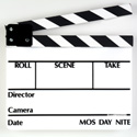 White Film Slate with Black and White Sticks