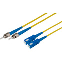 1-Meter 9u/125u Fiber Optic Patch Cable Singlemode Duplex ST to SC - Yellow