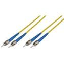 15-Meter 9u/125u Fiber Optic Patch Cable Singlemode Duplex ST to ST - Yellow
