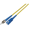 1-Meter 9u/125u Fiber Optic Patch Cable Singlemode Simplex ST to SC - Yellow