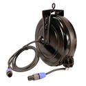 Stage Ninja SPK-40-QI 40ft Retractable Speaker Cable reel w/Neutrik 1/4in plugs