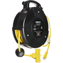 Stage Ninja STX-40-3 40 ft Retractable Power Cord w/ 12/3 3-Tap head
