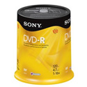 Sony 100DMR47RS4 16x 4.7GB DVD-R Media - 100 Pack