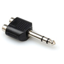 Stereo 1/4 Inch TRS Male Plug to Dual RCA Female Jack Audio Adapter