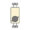 FSR SS-P1XLR-WHT White Insert Punched w/1 Neutrik D-1 Hole