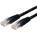StarTech 100 Ft Black Molded Cat6 UTP Patch Cable - ETL Verified