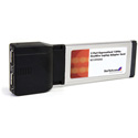 StarTech EC13942A2 2 Port ExpressCard 1394a FireWire Laptop Adapter Card
