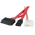 Micro SATA Female to Female Cable with LP4 Power Cable 20 Inch