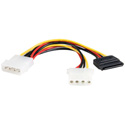 SATA LP4 to LP4/SATA Y-Adapter Power Cable 6 Inch