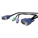 3-in-1 Ultra Thin PS/2 KVM Cable 10 foot