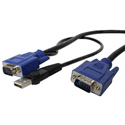 Startech SVECONUS6 6ft 2-in-1 USB KVM Switch Cable