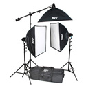 Smith-Victor K71 3-Light 2600-Watt Professional Studio Soft Box Kit