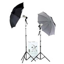 Smith-Victor KF2U 2-Light 90 Watt-Second Thrifty Umbrella Flash Kit