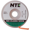 NTE SW01-10 No-Clean Solder Wick #3 Green 0.075 Inch Wide 10 Feet