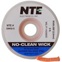 NTE SW02-10 No-Clean Solder Wick #4 Blue 0.098 Inch Wide 10 Feet