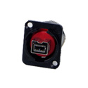Switchcraft EHFW800X2B EH Series Firewire 800 Female Feedthru - Black