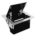 FSR TB-5G-BLK-LIFT Table Box - Black Aluminum Cover w/ Cable Exit Door - Lift La
