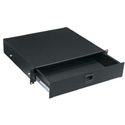 4 Space Textured Rack Drawer  Black