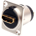 Connectronics HDMI Feed Through D Series Chassis Mount Connector