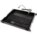 TecNec 1RU Drawer With Full Size USB/PS2 Keyboard and Touch Pad