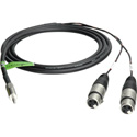 TecNec Premium Y-Cable - 3.5 Stereo Male To 2 - XLR  Females -3ft