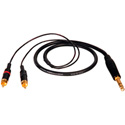 TecNec Premium Y-Cable - 1/4 Inch Stereo Male To 2 - RCA males -6ft