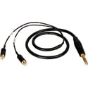 TecNec Premium Y-Cable - 1/4 Inch Stereo Male To 2 - RCA Females -3ft