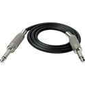 TecNec Premium 1/4in Mono Male - 1/4in Mono Male Audio Cable 3ft