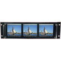 ToteVision LCD-560X3 Active Matrix 5.6 inch Triple Rack Mount LCD Monitors