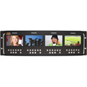 ToteVision LED-430X4-3GSDI Four 4 Inch LED Monitors in Rack Mount