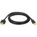 Tripp Lite U024-010 USB-A Male to USB-A Female Gold Extension Cable for USB2.0 C