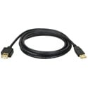 Tripp Lite U024-010 10-ft. USB A/A Gold Extension Cable for USB2.0 Cable