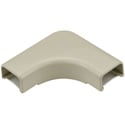 HellermannTyton 3/4-Inch Low Voltage Cable Raceway Flat 90 Elbow for TSR1I-6A 10-Pack - Ivory