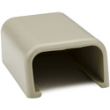HellermannTyton 3/4-Inch Low Voltage Cable Raceway End Cap for TSR1I-6A 10-Pack - Ivory